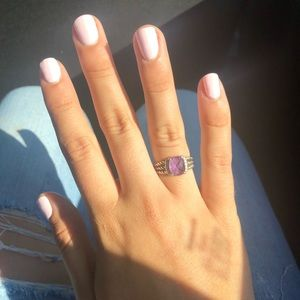 AuthenticDavid Yurman Petite Wheaton Ring Amethyst